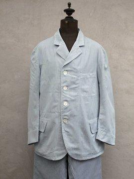 cir.1920-1930's striped cotton 2 piece
