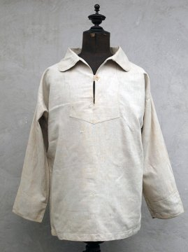 cir.early 20th c. marine linen pullover top