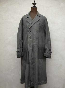 1940-1950's double breasted herringbone atelier coat