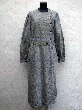 cir.1930's linen chambray work coat