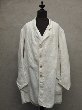 19th c. white linen summer frock coat