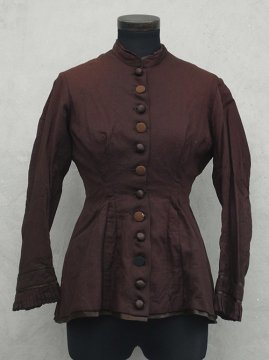 ~1900 brown wool bodice
