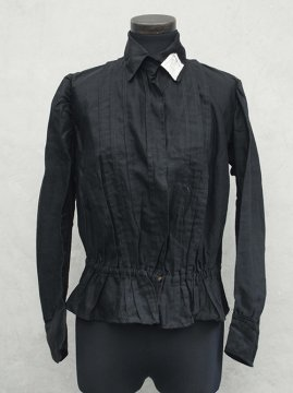 1910~1930's black cotton blouse