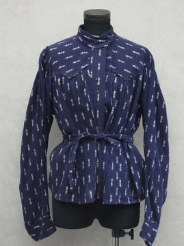 1910-1930's printed cotton blouse
