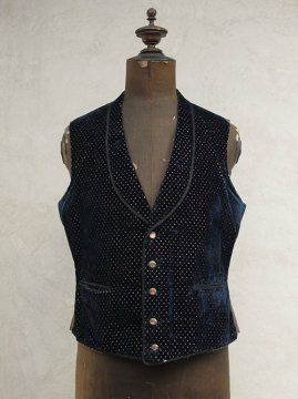 late 19th c. navy velvet gilet