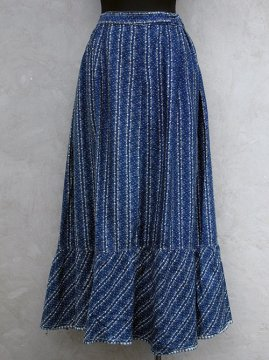 ~1930's indigo printed skirt