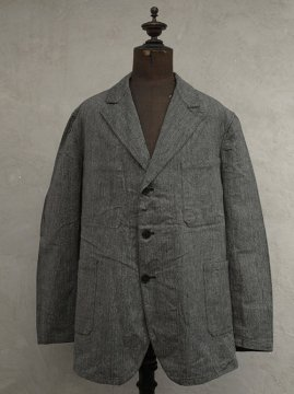 1930-1940's salt&pepper herringbone cotton work jacket