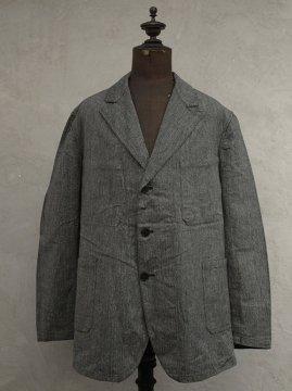 1930-1940's salt&pepper herringbone cotton work jacket