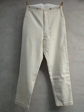 early 20th c. white wool trousers