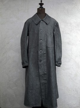 1930's salt&pepper linen × cotton work coat