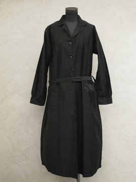 mid 20th c. black work coat