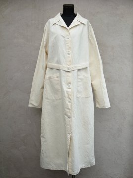 mid 20th c. womens HM linen × cotton coat dead stock