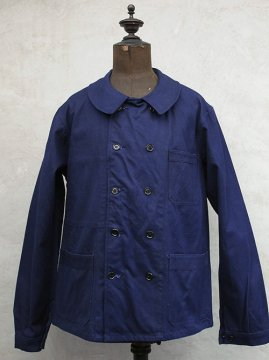 dead stock double breasted blue work jacket