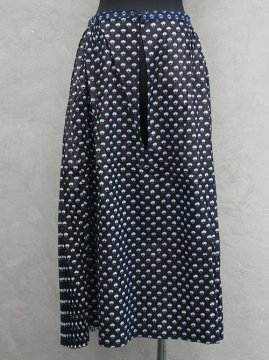 cir.1940's indigo printed skirt