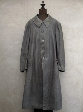 early 20th c. linen × cotton work coat