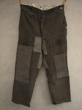 ~1930's gray strtiped work trousers