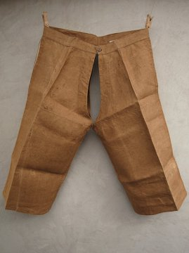 ~1940's brown linen over pants dead stock