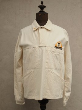 1960's Adolphe Lafont white cotton work pullover dead stock
