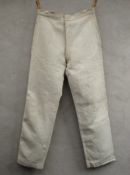 ~early 20th c. military herringbone linen work trousers