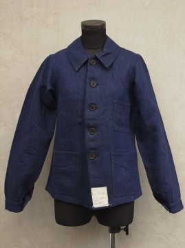 cir.1930-1940's dead stock linen twill work jacket
