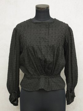 early 20th c. black dots blouse
