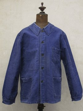 mid 20th c. blue moleskin work jacket