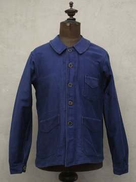 1930-1940's blue moleskin work jacket