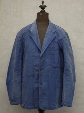 1940-1950's blue moleskin work jacket tailored collar