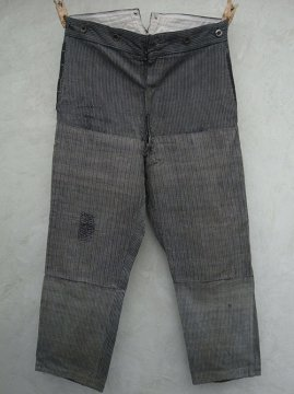 1930's striped cotton work trousers