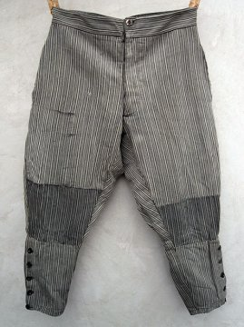 cir.1930-1940's striped cotton jodhpurs