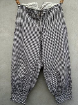 ~1930's checked cotton knickerbockers
