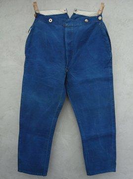 ~1930's indigo linen work trousers