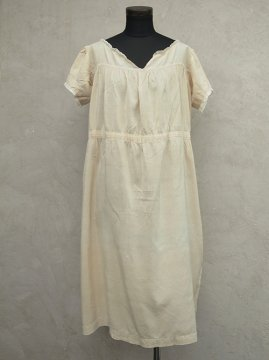 1910-1930's cream silk S/SL dress