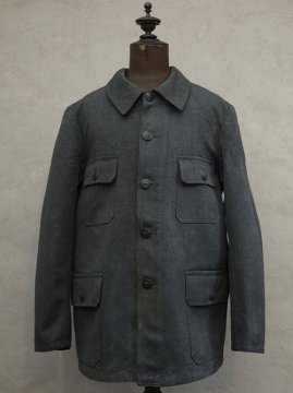 1940-1950's salt&pepper cotton hunting jacket dead stock
