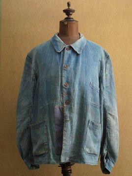 ~1930's indigo linen work jacket