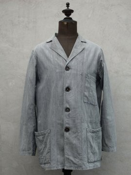 1930-1940's gray striped cotton work jacket