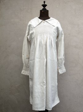 19th c. English linen shepherd smock