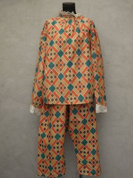 cir.1920's printed clown costume