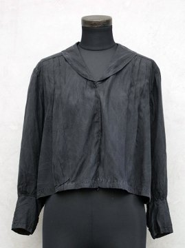 early 20th c. black silk blouse