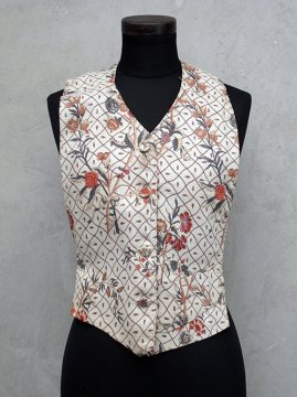 ~1930's flower printed linen dickey