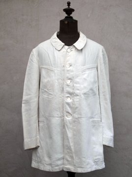 early 20th c. white linen work jacket