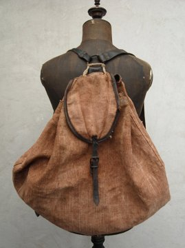~1940's brown hemp back pack