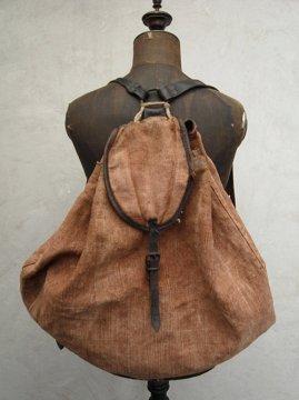 ~1940's brown hemp back pack