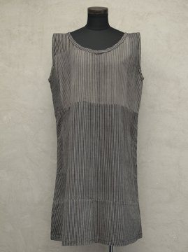 1930-1940's gray striped sleeveless dress