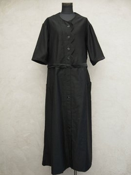 1930-1940s black work dress S/SL