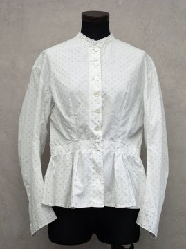 late 19th - early 20th c. printed white blouse