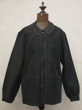 1940's black moleskin work jacket