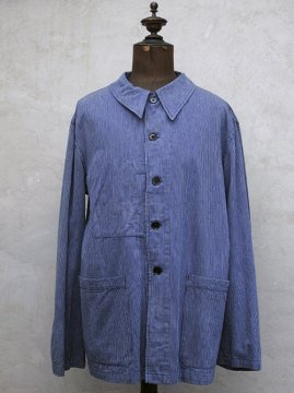mid 20th c. blue striped work jacket