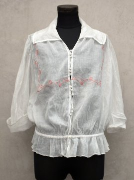 1910-1920's white cotton blouse