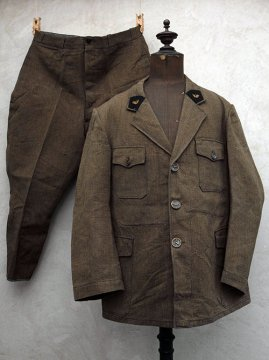 mid 20th c. brown hunting game keeper ensemble